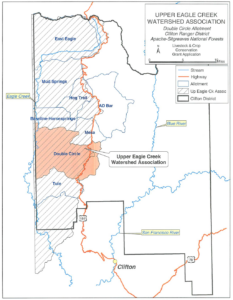 Map of Upper Eagle Creek Watershed Association grazing allotments